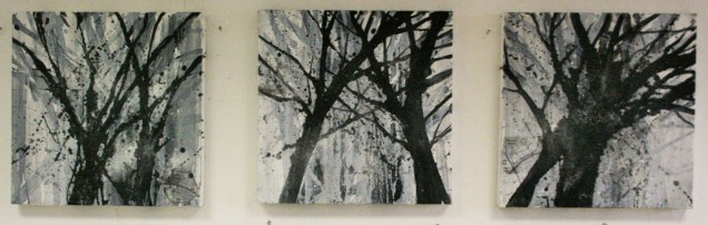 Herts Woods Triptych (large), 40 x 40cm each, £550 for all 3, £200 each