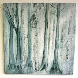 Hitch Wood 1, oil on canvas, 61 x 61cm £350