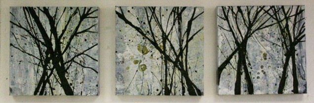 Stocking Springs Wood Triptych SOLD