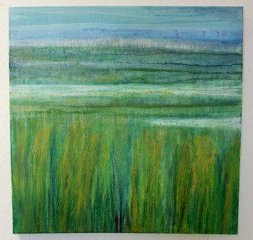Cley Marshes 1, oil on canvas, framed, 64 x 64 cm, £475