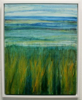 Cley Marshes 2, oil on canvas, framed, 54 x 44cm, £350