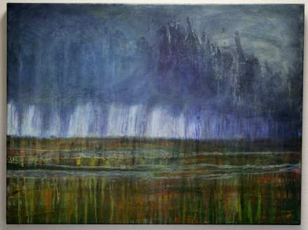 Saltmarsh Storm, oil on canvas, 100 x 75cm, SOLD