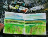 Sketchbook - Cley marshes