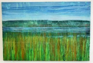 Tidal Marshlands, oil on canvas, framed, 80 x 55cm, £475