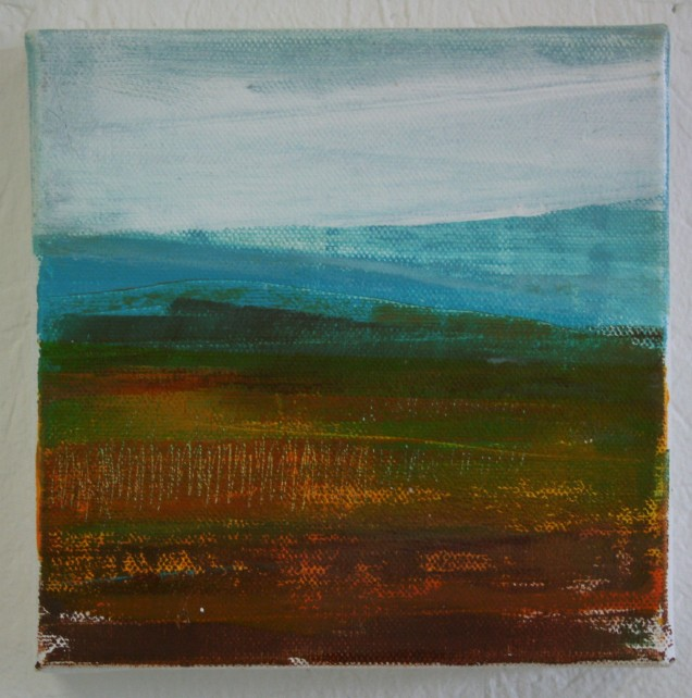 Moorland and Marshlands Series 10,15 x 15cm, £70