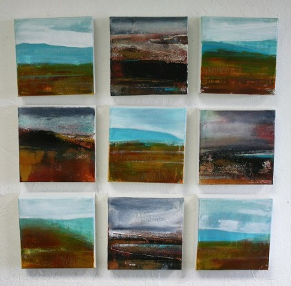 Moorland and Marshlands Series, 15 x 15cm, £70 each
