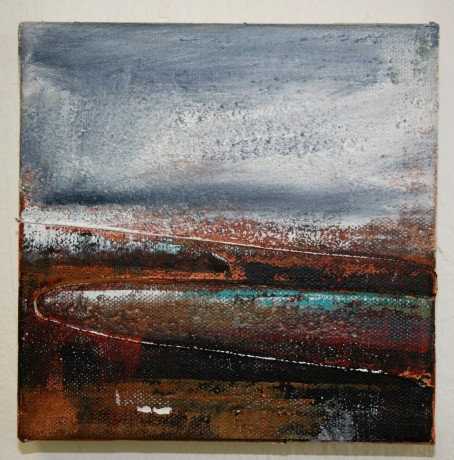 Moorland and Marshlands Series 4 SOLD, 15 x 15cm, £70