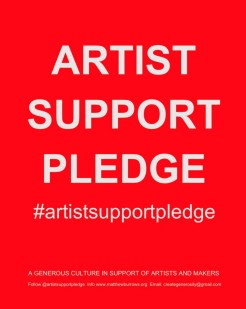 Artists Support Pledge 1
