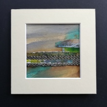 The Weave of the Land 1, SOLD mounted size 15 x 15cm, £25