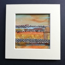The Weave of the Land 2, SOLD mounted size 15 x 15cm, £25