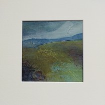 Mountain Moor 2, SOLD mounted size 30x30cm, £45